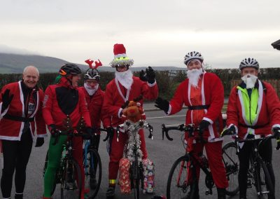 Bike club arrive for Christmas lunch